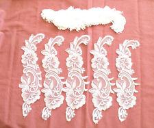 New listing 12 pcs of Vintage Flowers Decorative Wedding Dress Sewn on Lace Applique Craft