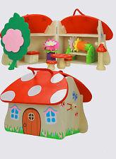 """Gioco per bambini casetta """"Funghetto delle fatine""""- in legno"""