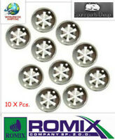 10x Clamp Washer Fixture metal Clip Engine Cover Heat Shield VW Audi Seat Skoda