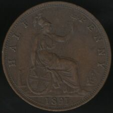 More details for 1891 victoria halfpenny   british coins   pennies2pounds