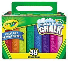 Crayola - Washable Sidewalk Chalk - 48 Assorted Bright Colors New FREE SHIP