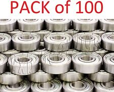 Wholesale Lot (100) Bearing 608ZZ 8x22 mm 608Z Metric Ball Bearings VXB 8mm/22mm