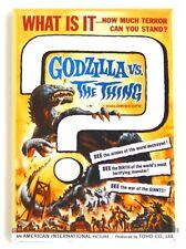 Godzilla vs. The Thing Fridge Magnet (2.5 x 3.5 inches) movie poster