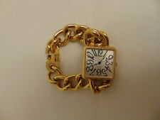 Stunning, Collectable, Gold Coloured, Quartz Watch, With Chain Style Strap