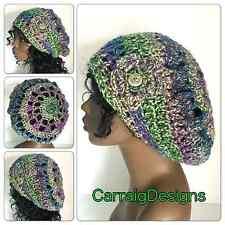 Women Afro dread locks tam mandala hat beanie handmade knit sale beret crochet