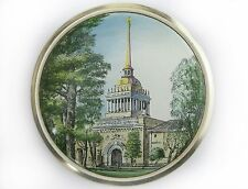 Vintage Wall plate enamel miniature LENINGRAD Soviet Russian USSR Last Century