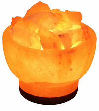 ONEX HIMALAYAN CRYSTAL ROCK SALT Bowl LAMP 100% NATURAL Pink Color
