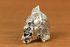 30g unique fashion Chinese solid 925 Sterling evil person Silver man's Ring