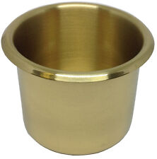 DRINK HOLDER - 1 BRASS POKER BJ DROP IN FOR CAN BOTTLE GLASS - FREE SHIPPING *