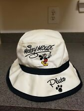 Walt Disney World White Bucket Hat Mickey Mouse Character Signatures Adult