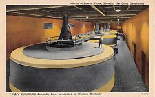 Kentucky postcard T.V.A. Kentucky Dam interior of power house giant generators