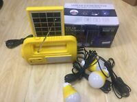 Solar panel small system lighting photovoltaic power generation with radio