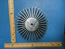 """Heatsink, Round, For Power Led, 6"""" x 1.5"""", Silver Color"""