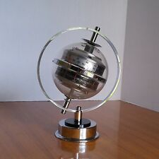 Huger Barometer Sputnik Space Atomic Age Satellite Weather Station Chrome Lucite