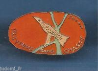 Pin's pin DESSIN DE FOLON PRINTEMPS SANS CHASSE (ref L09)
