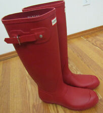 NEW Womens HUNTER Original Tall Rain Boots Red Sz US 10