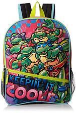 """NEW Teenage Mutant Ninja Turtles 16"""" Keep in It Cool Kids Backpack - Pink"""