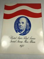 1972 USPS Special Stamp Mini-Album Unite States Postal Service With Extra Stamps