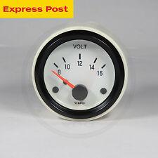 VDO 52mm 12v WHITE/BLACK VOLT GAUGE automotive-marine-4wd
