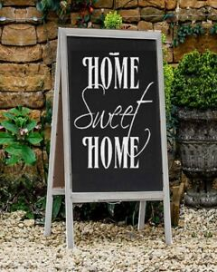 Wooden Chalkboard Easel Sign A Frame Wedding Party Events Grey