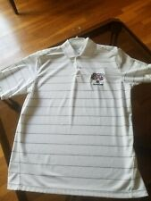 White Polo Yankees World series Champion 2009 striped size m textured