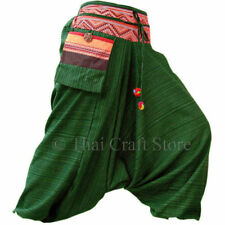 Gypsy Hippie Aladdin Hmong Baggy Green Harem Pants Mens / Womens Hammer Trousers