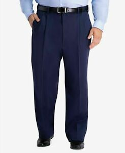 """Haggar Work to Weekend Hidden Expandable Waist Pleat Front Pant Size 54""""W X 34""""L"""