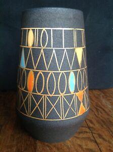 """SCHLOSSBERG Keramik Vase """"MESSINA"""" Hans Welling vintage Design WGP 60er Jahre"""