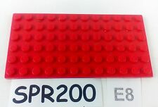 LEGO rouge base/plaque/Board Brique 6x12 PIN ID 3028