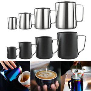 Milk Frothing Jug Stainless Steel Frother Coffee Latte Container Metal Pitcher