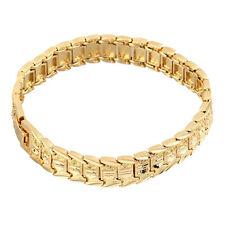 18K Gold Plated Men Bracelet Fashion Vintage Link Bracelet For Men Male Kl