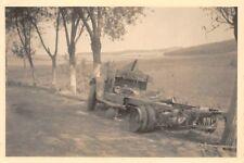 Zerstörte deutscher LKW Strasse bei Kowel Ukraine Ostfront