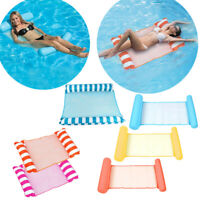 Summer Inflatable Floating Water Hammock Pool Lounge Bed Swimming Chair