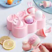 Ice Cream Mold Juice Frozen Popsicle Maker DIY Ice Lolly Mould Ice Cubes Tray