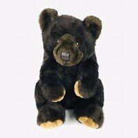 """Bearland Black Bear 17"""" Plush Vintage 1988 Jumbo Stuffed Animal"""