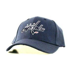 WASHINGTON CAPITALS ADJUSTABLE BLUE HAT CAP BASEBALL HAT