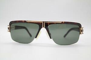 Vintage Cazal 9033 Rotbraun Gold Halbrand Sonnenbrille sunglasses Brille NOS