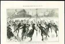 1888 - CANADA OTTAWA GOVERNMENT HOUSE ICE SKATING WINTER MAYPOLE (243A)