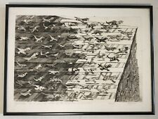 """""""Hypothesis on Extinction of Dinosaurs"""" David Bigelow; Framed, Signed Etching"""