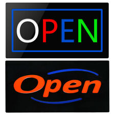 Ultra Bright Led Open Light Business Sign Flash Animated Resin Light Board Onoff
