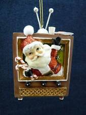 "KSA Kurt Adler SANTA IN TELEVISON TV  Resin Ornament NEW tag 4.5"" (o1067)"