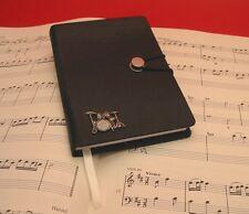 Kit de tambour en étain motif A6 Noir journal notebook Professeur De Musique Groupe Rock Cadeau Nouveau
