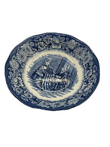 Liberty Blue Staffordshire England Dinner 6 Units Plates  Independence Hall
