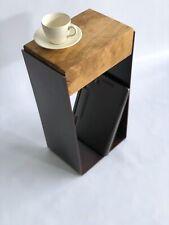 Industrial Style Oak Sleeper Side Table