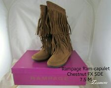 New Rampage Womens Cantrell Round Toe Mid-calf Fashion Boots, Chestnut, size 7.5