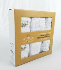 Swaddle Baby Blankets 3 Gift Box Cotton Muslin Flower Arrow 40X40 Infant Gift