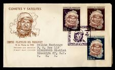 1963 PARAGUAY FDC SPACE CACHET COMBO