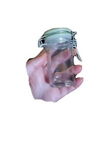 11 x Clear Glass Mini Jars Bottles Favors Wedding Party Holders colored lids
