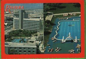 Vintage Nevada NV Las Vegas Casino Postcard Hotel Riviera Aerial