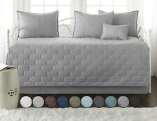 Premium Collection 6-Piece Embroidered Brickyard Solid Daybed Cover Set